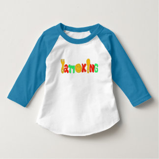 Baseball shirt for I am king kids baseball shirts