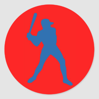 baseball silhouette classic round sticker