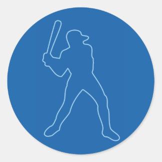 baseball silhouette stickers