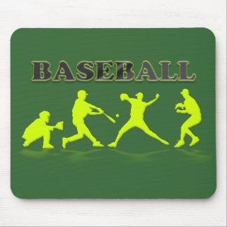 Baseball Silhouettes Mousepad