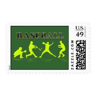 Baseball Silhouettes Postage Stamp