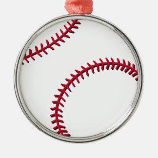 Baseball Silver-Colored Round Decoration