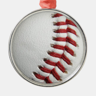Baseball Silver-Colored Round Decoration