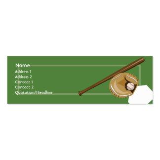 Baseball - Skinny Business Card Template