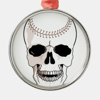 baseball skull head christmas ornament