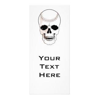 baseball skull head rack card template