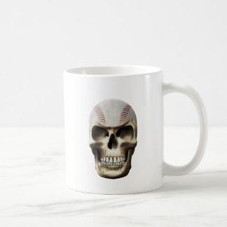Baseball Skull Classic White Coffee Mug