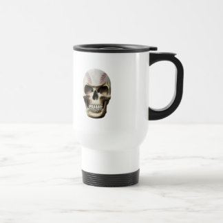 Baseball Skull Stainless Steel Travel Mug