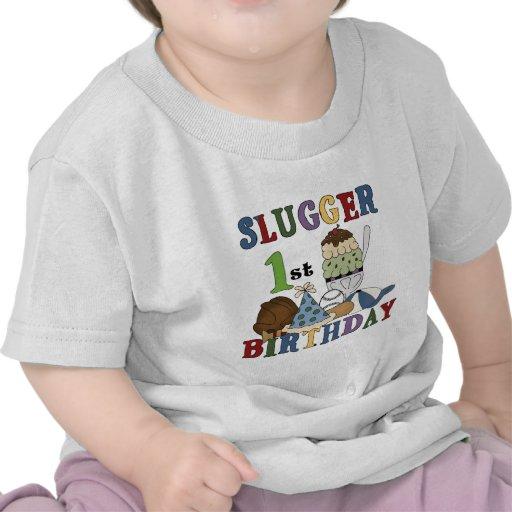 Baseball Slugger 1st Birthday Tshirts and Gifts