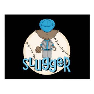 Baseball Slugger African  American Boy Tshirts Postcard