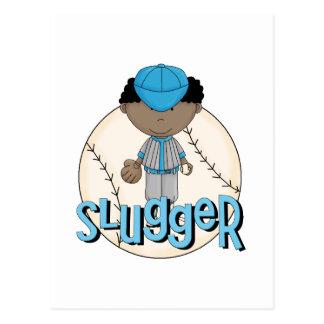 Baseball Slugger African  American Boy Tshirts Postcards
