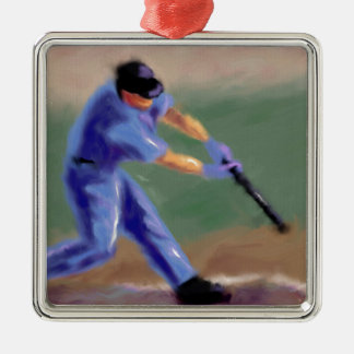 Baseball Slugger Art Christmas Ornament