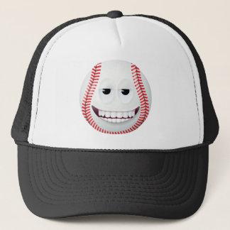 Baseball Smiley Face 2 Trucker Hat