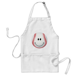 Baseball Smiley Face Standard Apron