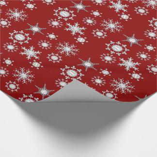Baseball snowflakes wrapping paper