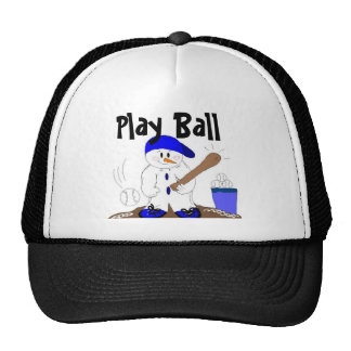 Baseball Snowman Trucker Hat