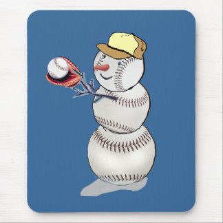 Baseball Snowman Mousepads