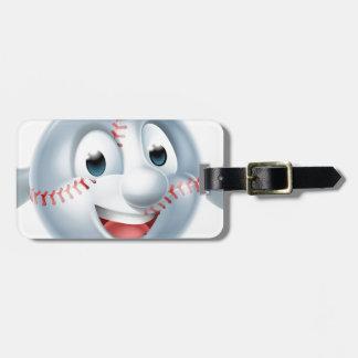 Baseball Softball Ball Man Character Bag Tag