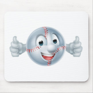 Baseball Softball Ball Man Character Mouse Pad