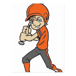 BASEBALL / SOFTBALL BOY BATTING POSTCARD