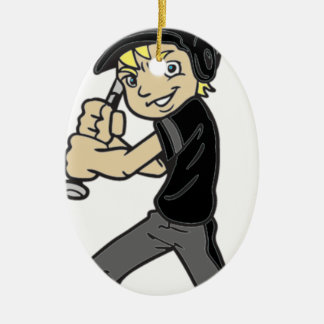 BASEBALL / SOFTBALL BOY CHRISTMAS ORNAMENT