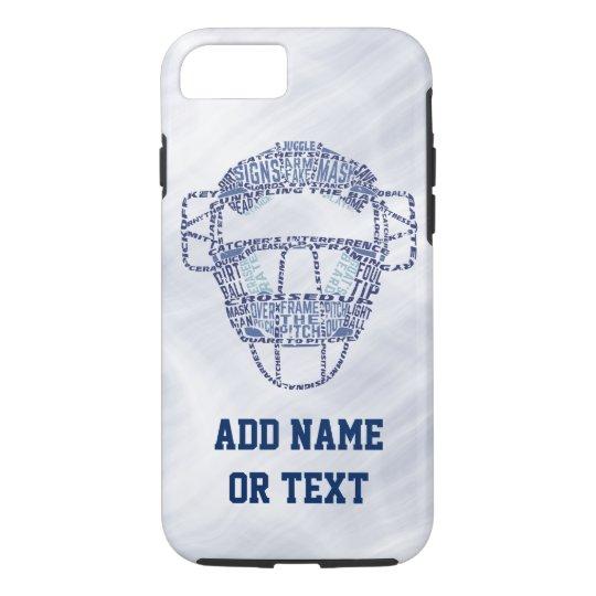 Baseball Softball Catcher's Mask Typography iPhone 7 Case