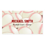 Baseball / Softball Coach Business Card