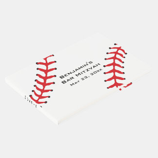 Baseball Softball Design Guest Book