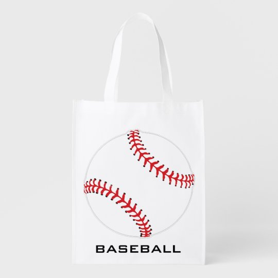 Baseball Softball Design Reusable Tote