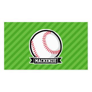 Baseball, Softball; Green Stripes Pack Of Standard Business Cards