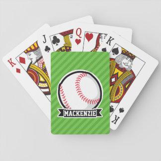 Baseball, Softball; Green Stripes Playing Cards