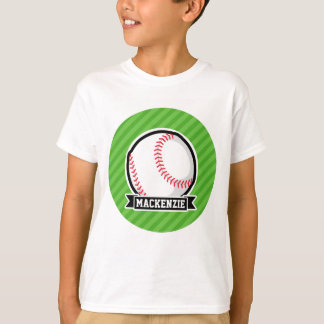 Baseball, Softball; Green Stripes Tee Shirts