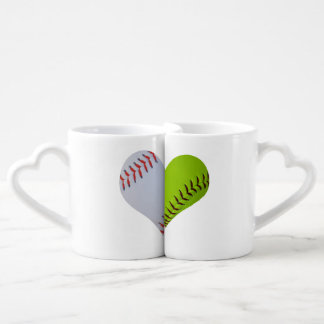 Baseball-Softball heart Mugs