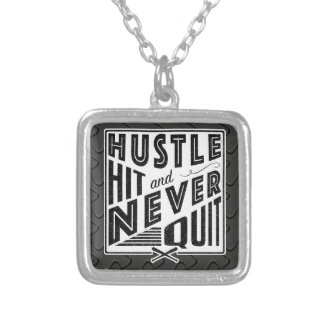 Baseball Softball Hustle, Hit Never Quit Jewelry