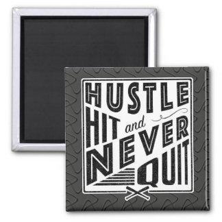 Baseball Softball Hustle Hit & Never Quit Magnet