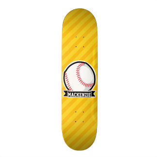 Baseball, softball on Yellow Stripes Skateboards