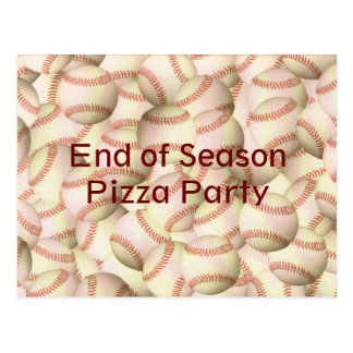 Baseball Softball Party Team Postcard