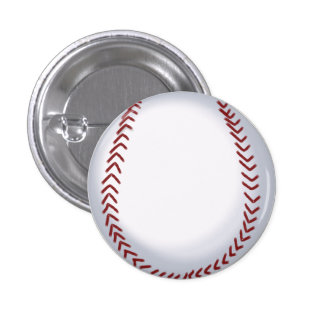 Baseball - Softball Pin-on Button 1 Inch Round Button