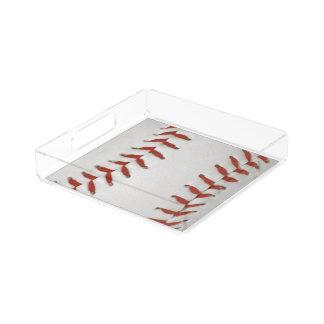 Baseball Softball Print Pattern Background Acrylic Tray