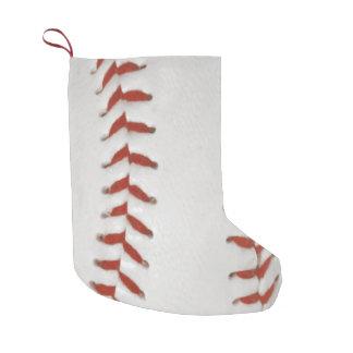 Baseball Softball Print Pattern Background Small Christmas Stocking