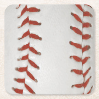 Baseball Softball Print Pattern Background Square Paper Coaster