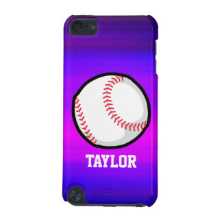Baseball, Softball Vibrant Violet Blue and Magenta iPod Touch (5th Generation) Covers