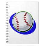 baseball spiral note book