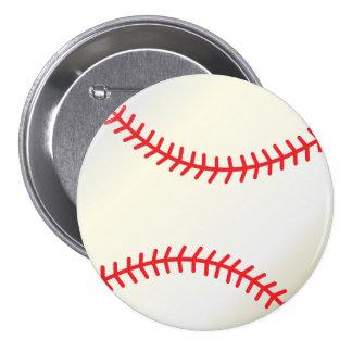 Baseball Sport Ball 7.5 Cm Round Badge