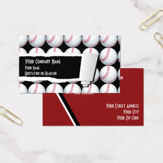 Baseball Sport Business Card