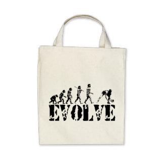 Baseball Sport Evolution Art Canvas Bags