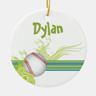 Baseball Sports Ball Game Personalized Name Christmas Ornament