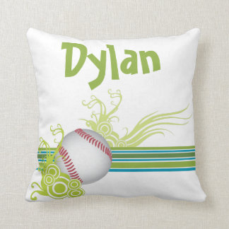 Baseball Sports Ball Game Personalized Name Cushion