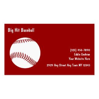 Baseball Sports Business Cards