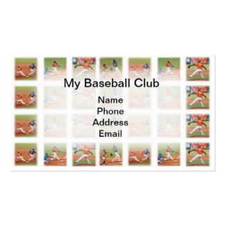 Baseball Sports Game Images Business Card Template